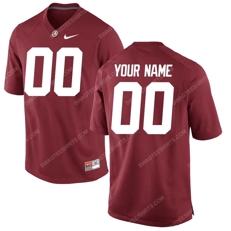 Custom nfl alabama crimson tide full print football jersey - crimson