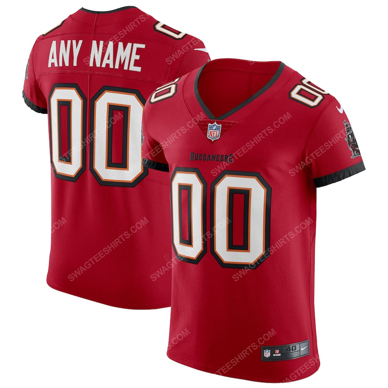 Custom tampa bay buccaneers team full print football jersey-red