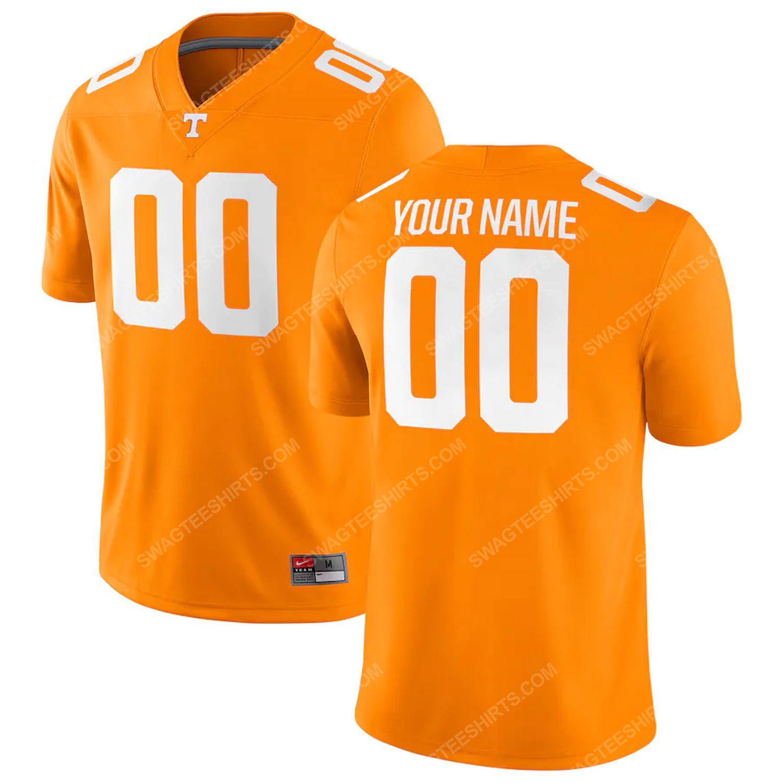 Custom tennessee volunteers football team full print football jersey-tennessee orange