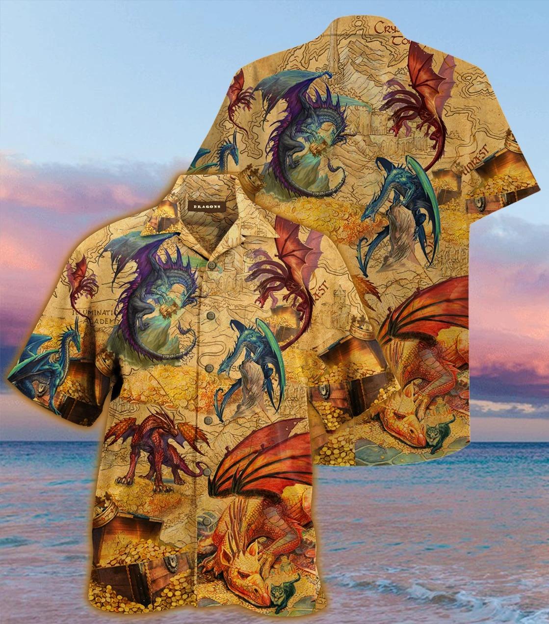 Every treasure is guarded by dragons unisex hawaiian shirt 1