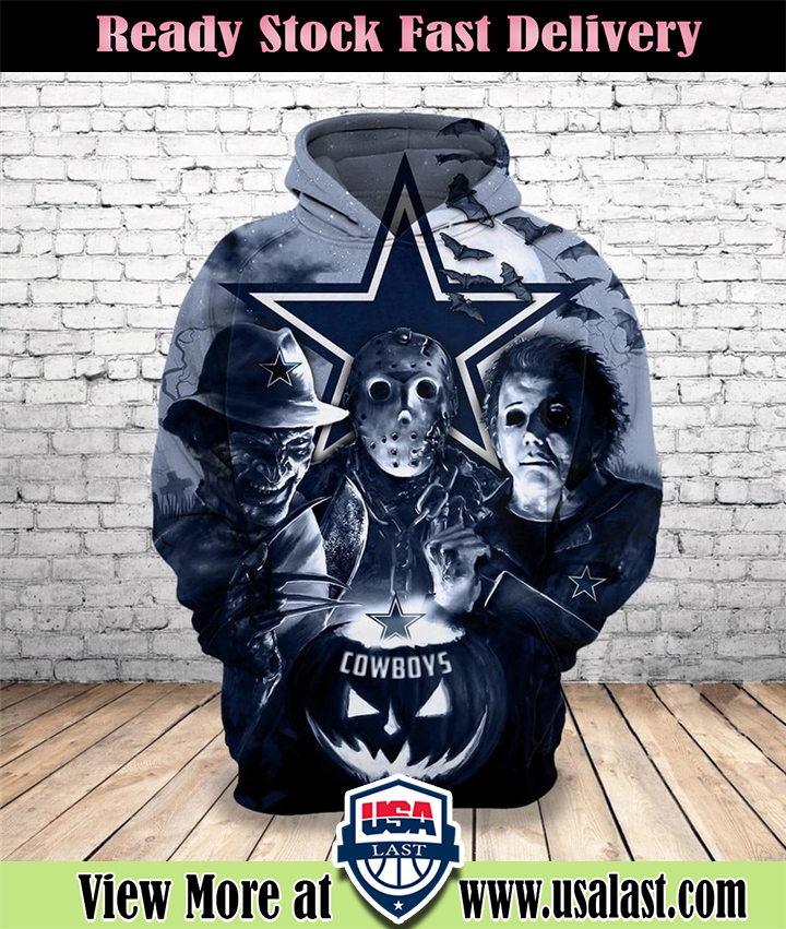 [HOT TREND] Dallas Cowboys Halloween Horror Night 3D Pullover Hoodie - Hothot 040921