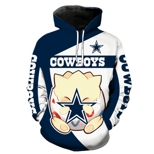 Dallas cowboys Togepi pokemon 3d hoodie - LIMITED EDITION