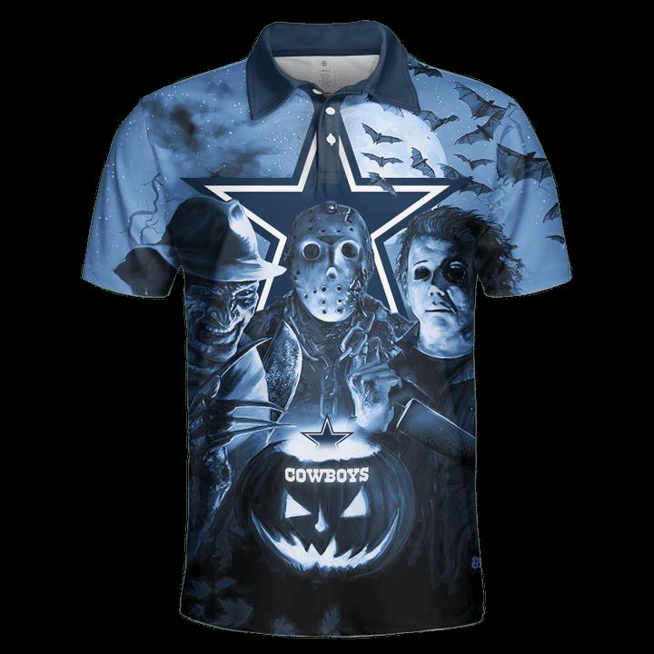 Dallas cowboys horror night hawaiian shirt and 3d hoodie 2