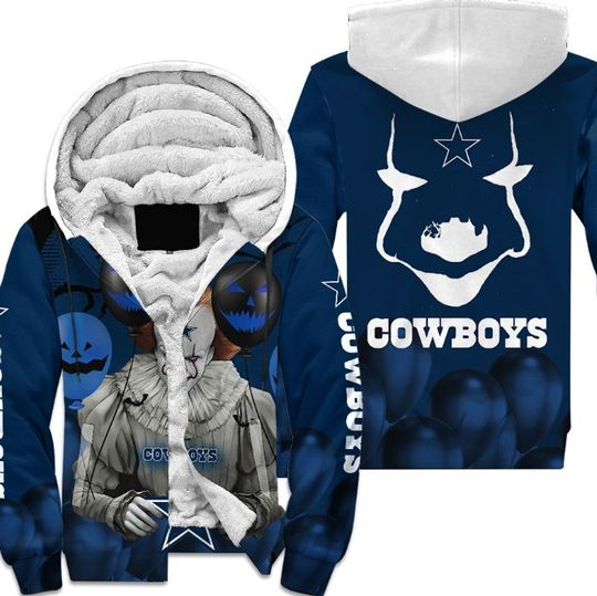 Dallas cowboys pennywise the dancing clown it halloween 3d all over print hoodie4