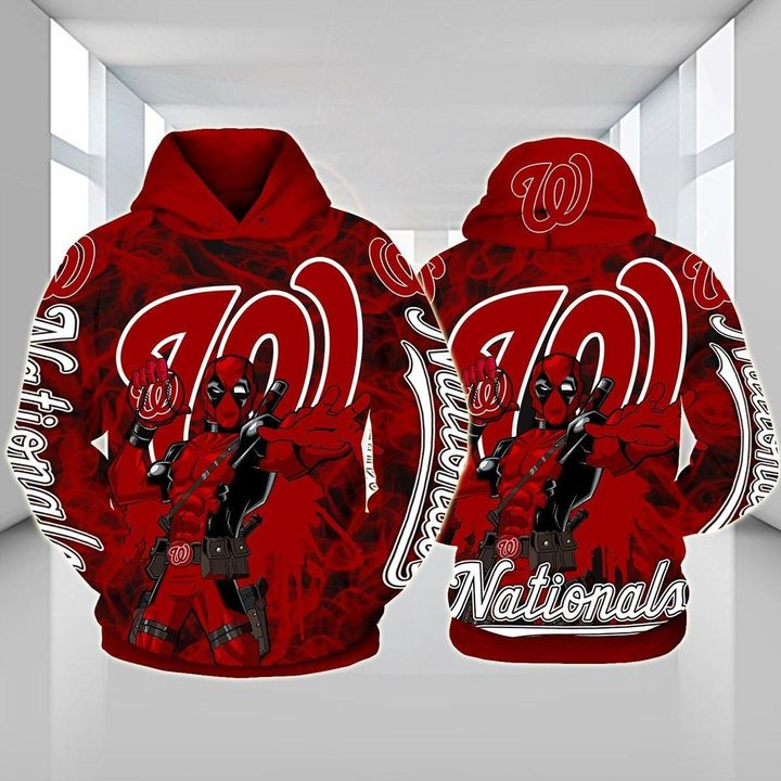 Deadpool Washington nationals 3d hoodie - LIMITED EDITION