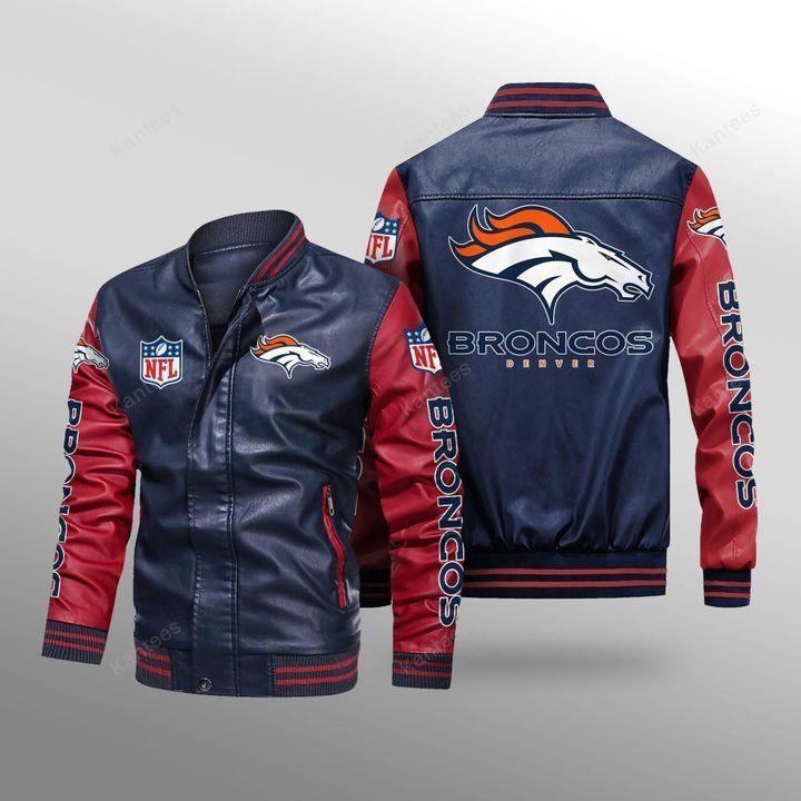 Denver Broncos Leather Bomber Jacket - LIMITED EDITION