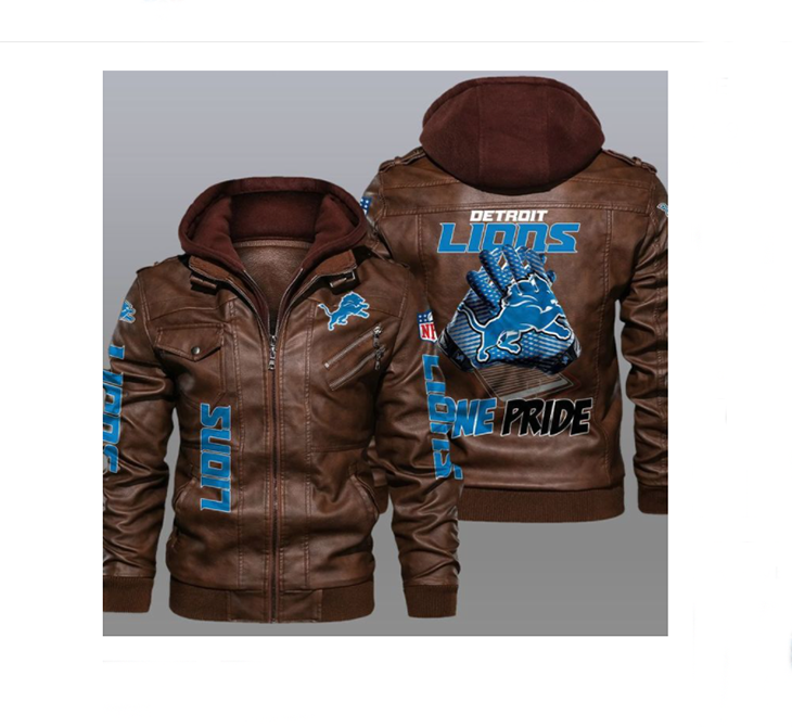 Detroit Lions One Pride Leather Jacket - LIMITED EDITION