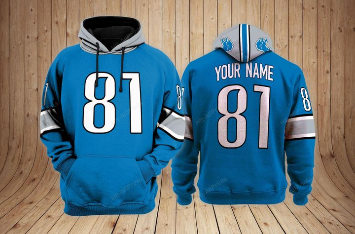 Detroit lions custom name 3d hoodie - LIMITED EDITION
