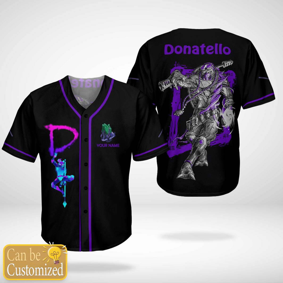 Donnie Donatello Custom Name Baseball Jersey Shirt - LIMITED EDITION