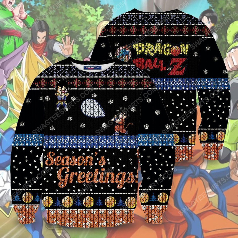 Dragon ball z goku full print ugly christmas sweater 1