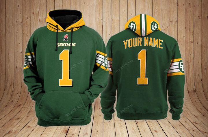 Edmonton eskimos custom name 3d hoodie - LIMITED EDITION
