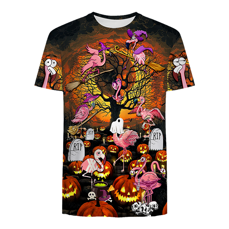 Flamingo Pattern Halloween Hoodie And Shirt - LIMITED EDITION