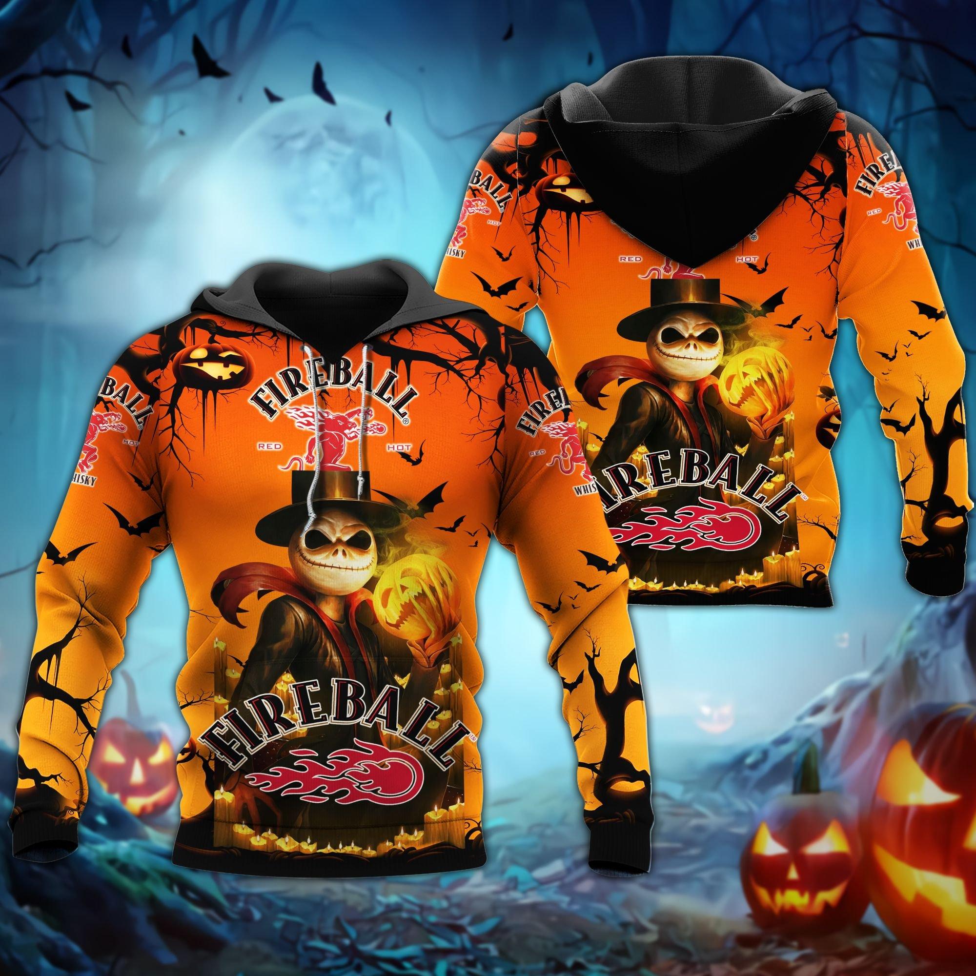 Fireball Jack Skellington hoodie - LIMITED EDITION