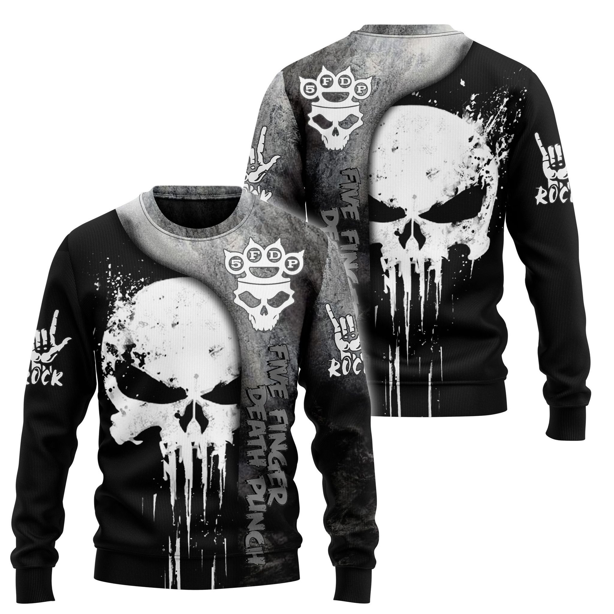 Five finger death punch skull 3d hoodie, shirt - LIMITED EDITION