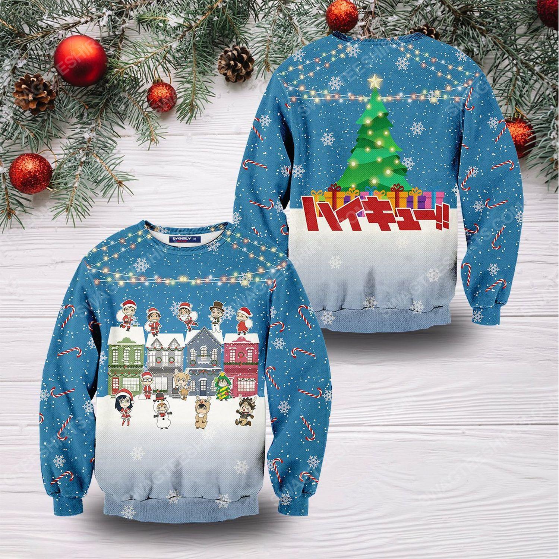 Fly high christmas full print ugly christmas sweater 1