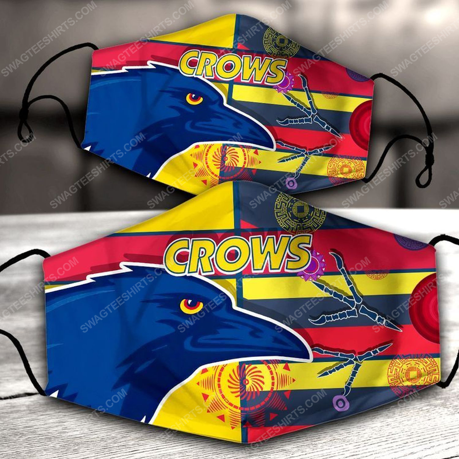 Football club adelaide crows all over print face mask
