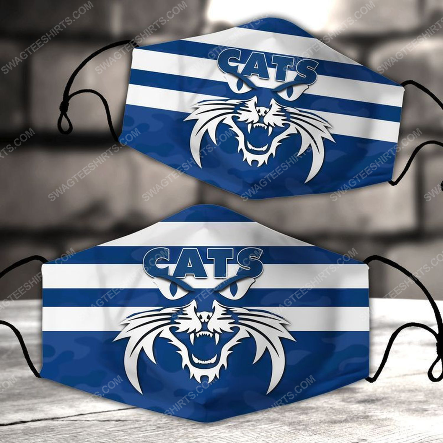 Football club geelong cats all over print face mask