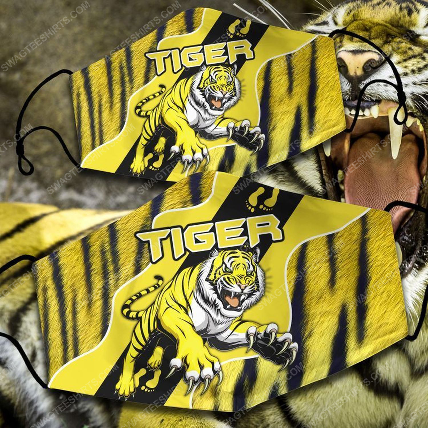 Football club richmond tigers all over print face mask