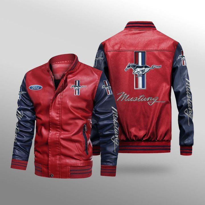 Ford Mustang Leather Bomber Jacket - LIMITED EDITION