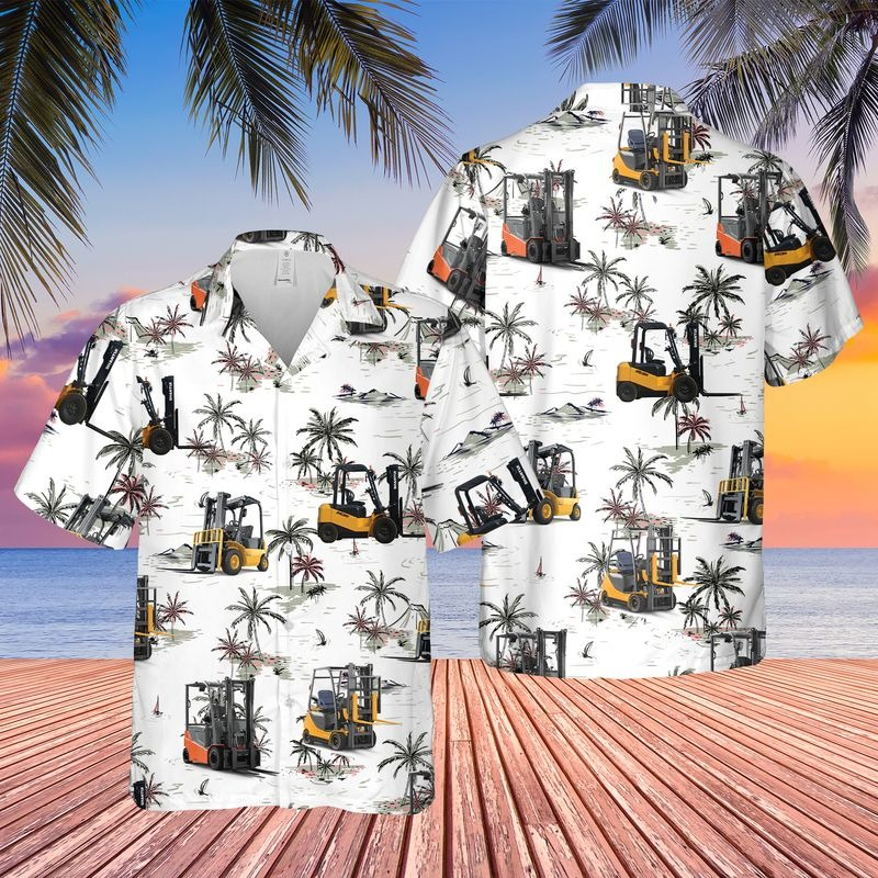 Personalized Name Forkilft 3D Hawaiian Shirt – Hothot 010921
