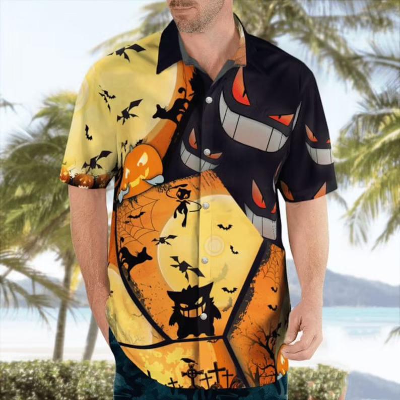 Gengar Pokemon Halloween Hawaiian Shirt – Hothot 030921
