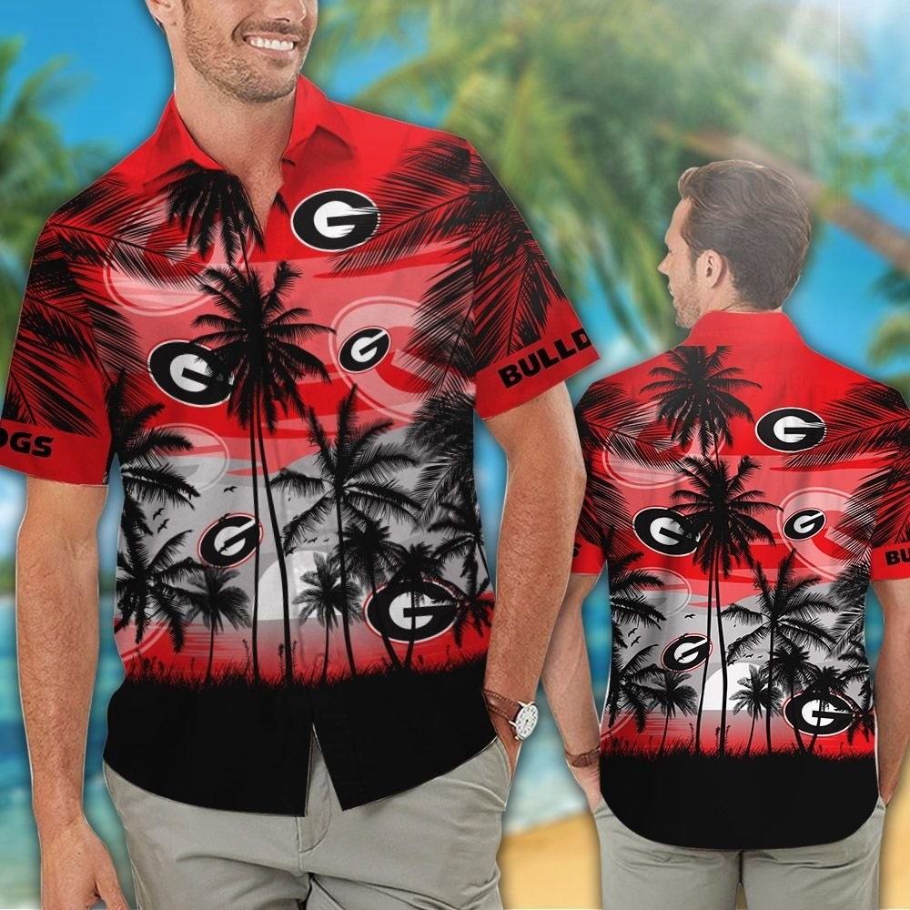 Georgia Bulldogs NCAA tropical hawaiian shirt