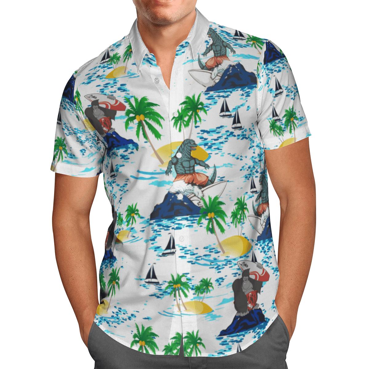 Godzilla vs Kong Hawaiian shirt and short - LIMITED EDITION