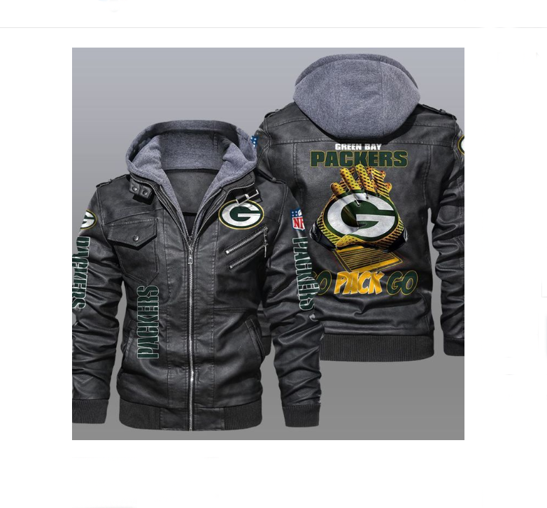 Green Bay Packers Go Pack Go Leather Jacket - LIMITED EDITION