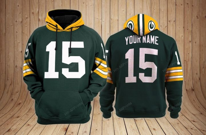 Green bay packers 3d custom name hoodie - LIMITED EDITION
