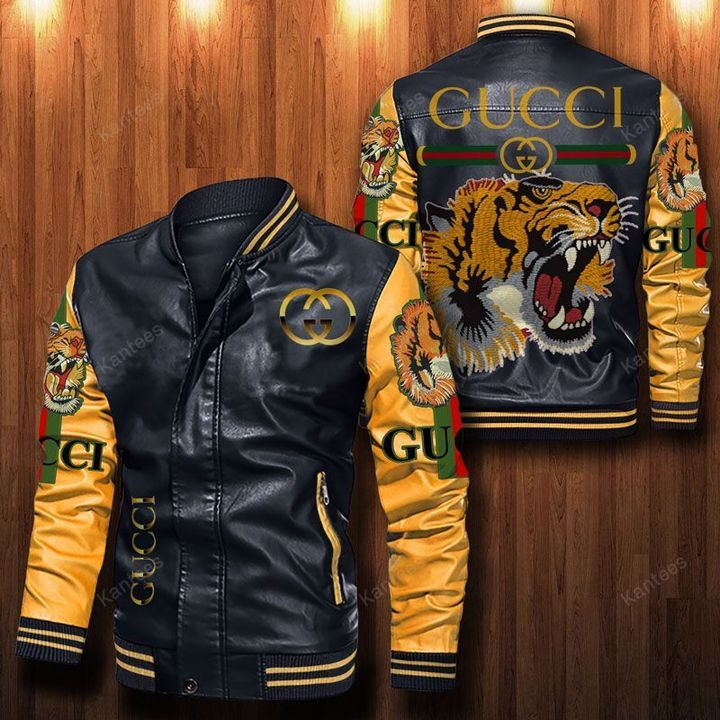 Gucci Tiger Leather Bomber Jacket - LIMITED EDITION