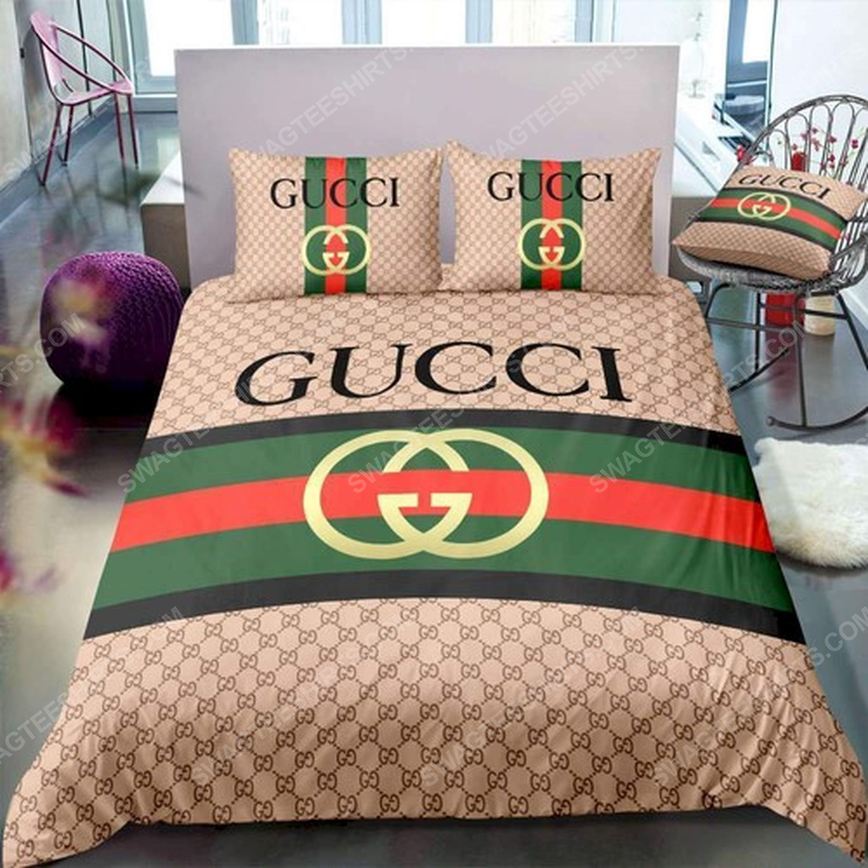 Gucci symbol full print duvet cover bedding set 1