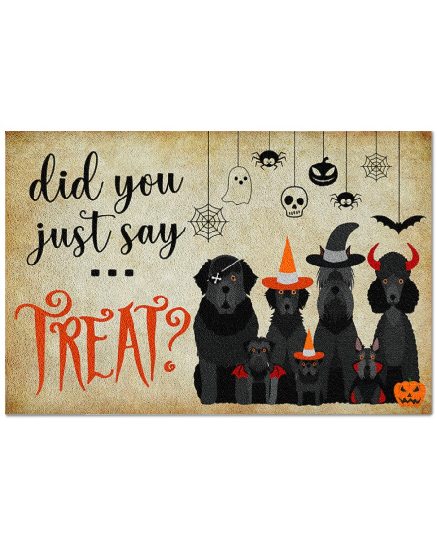 [HOT TREND] Halloween Funny Dog Did You Just Say Treat Doormat - Hothot 100921