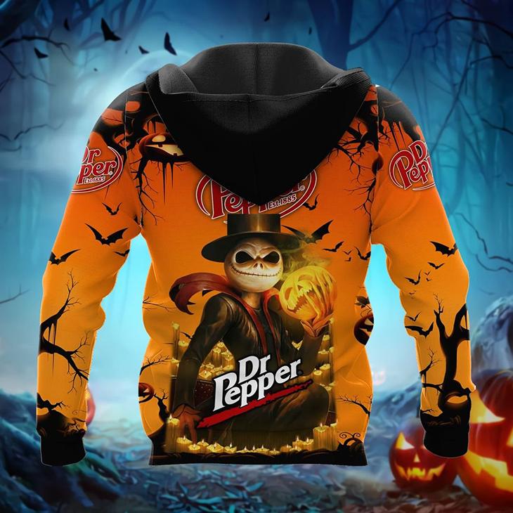 Halloween Jack Skellington Dr Pepper Est 1885 Logo 3D Hoodie, Shirt - LIMITED EDITION