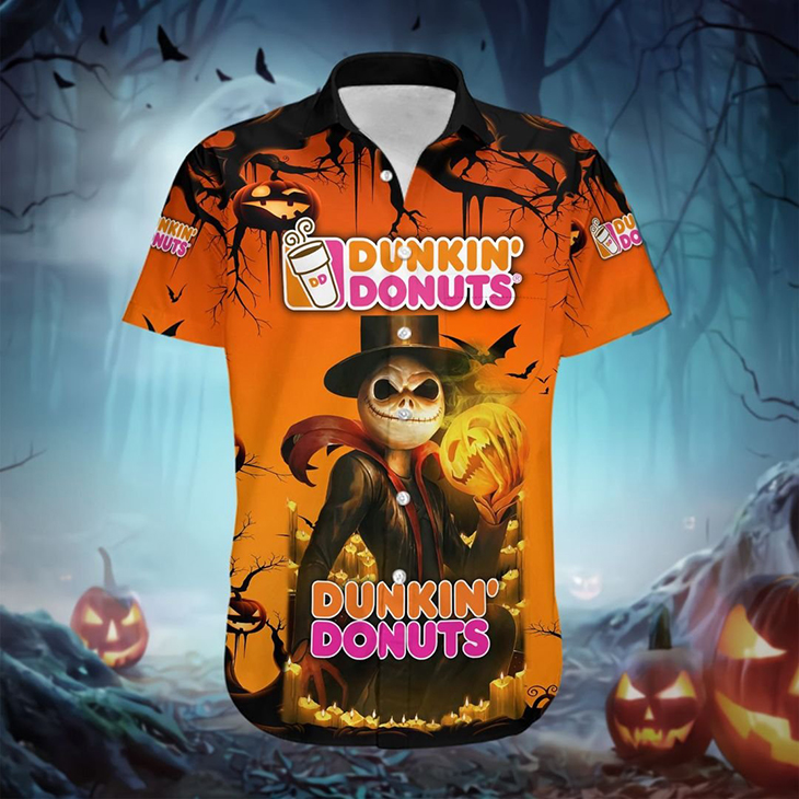 Halloween Jack Skellington Hennessy Logo Hawaiian Shirt - LIMITED EDITION