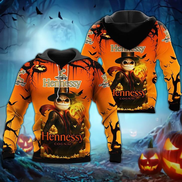 Halloween Jack Skellington Hennessy Logo 3D Hoodie, Shirt - LIMITED EDITION