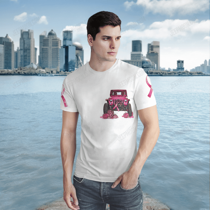 Halloween jeep pink girl in October we were pink 3d shirt - LIMITED EDITION