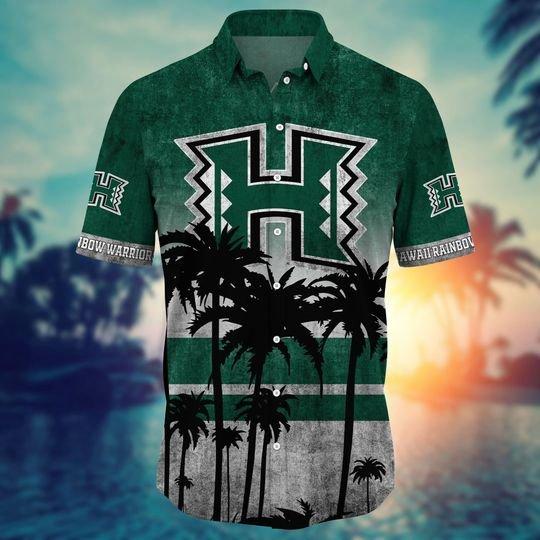 Hawaii Rainbow Warriors Summer Hawaiian Shirt, short -BBS