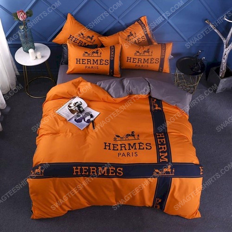 Hermes symbol full print duvet cover bedding set 1