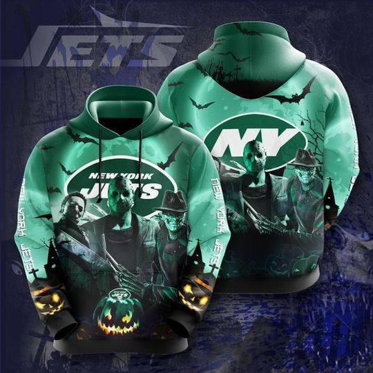 Horror Characters New york jets 3d all over print hoodie2