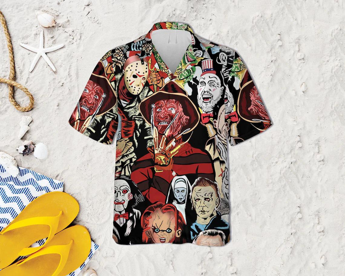 Horror Squad Tropical Hawaiian Shirt - Picture 1