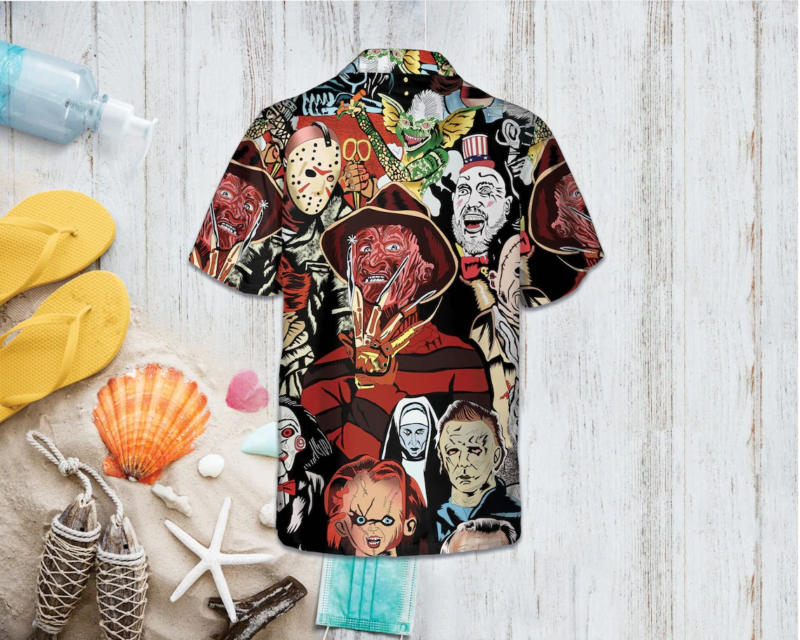 Horror Squad Tropical Hawaiian Shirt - Picture 2