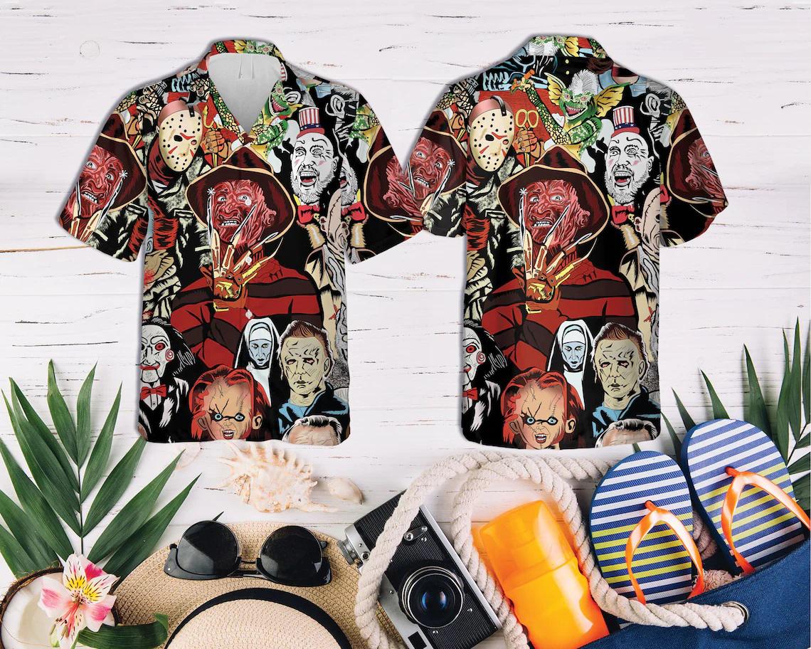 Horror Squad Tropical Hawaiian Shirt