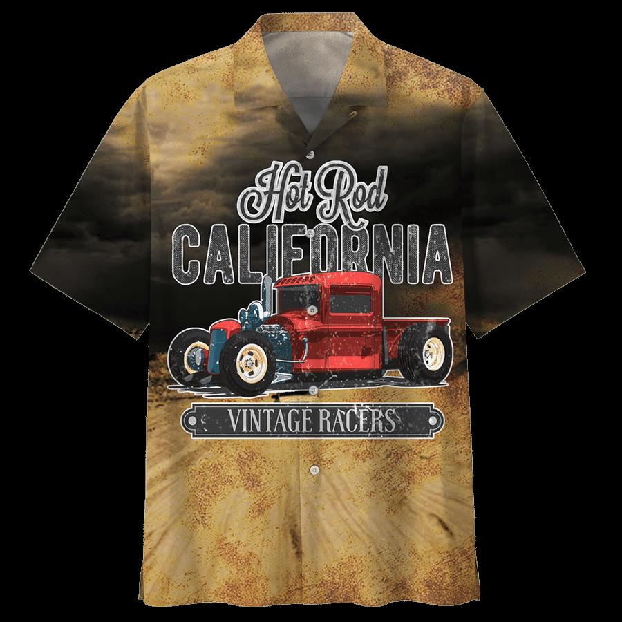 Hot rod california vintage racers hawaiian shirt