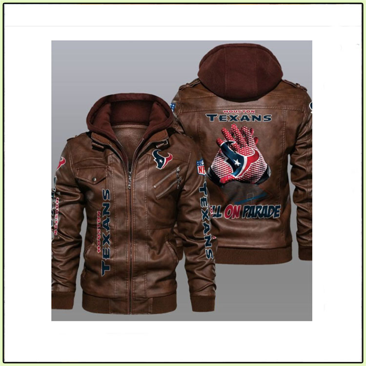 Houston Texans Bulls On Parade Leather Jacket - LIMITED EDITION