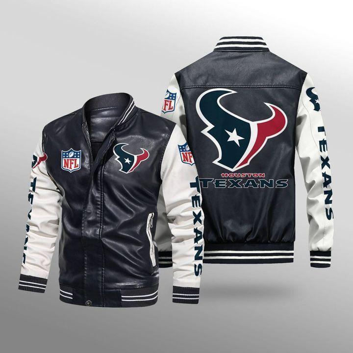 Houston Texans Leather Bomber Jacket - LIMITED EDITION