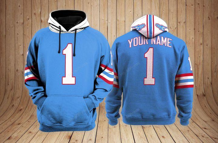 Houston oilers custom name hoodie - LIMITED EDITION