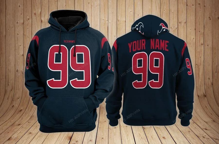 Houston texans custom name hoodie - LIMITED EDITION