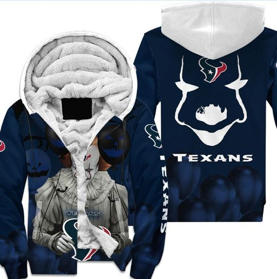 Houston texans pennywise the dancing clown it halloween 3d all over print hoodie5