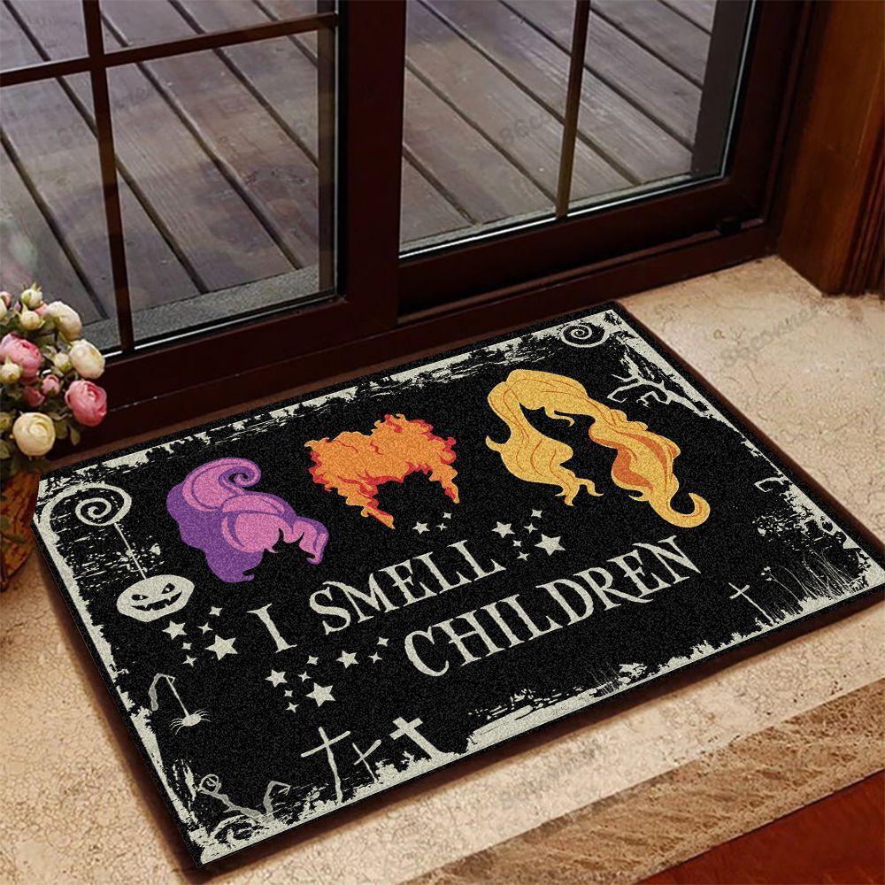 I smell children halloween doormat