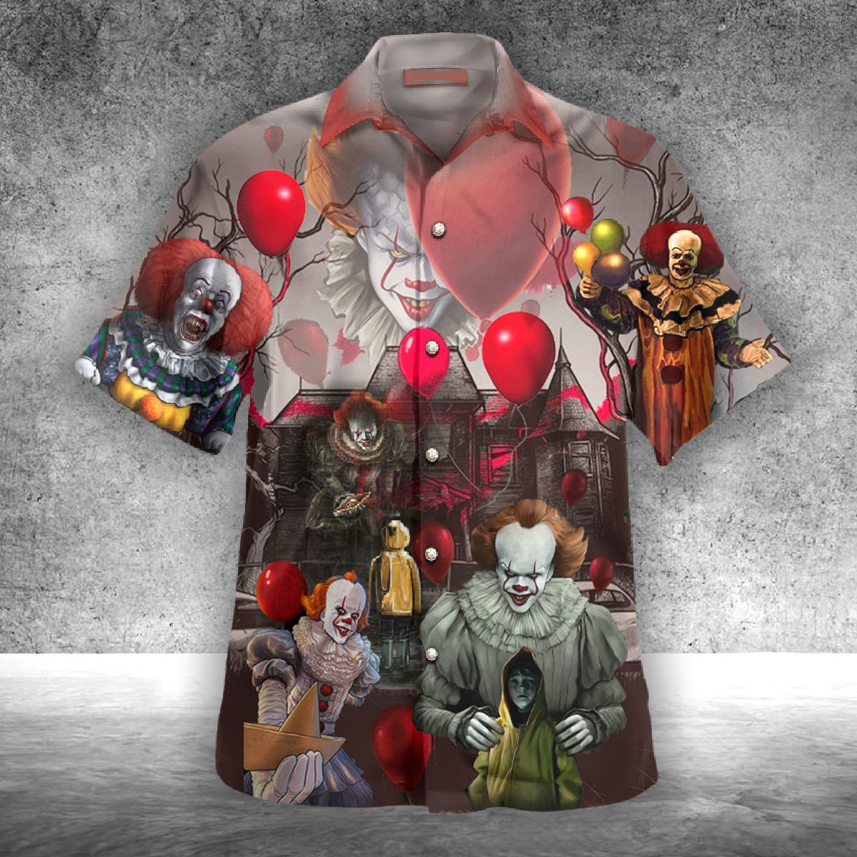 IT Pennywise You'll float too hawaiian shirt - Picture 1
